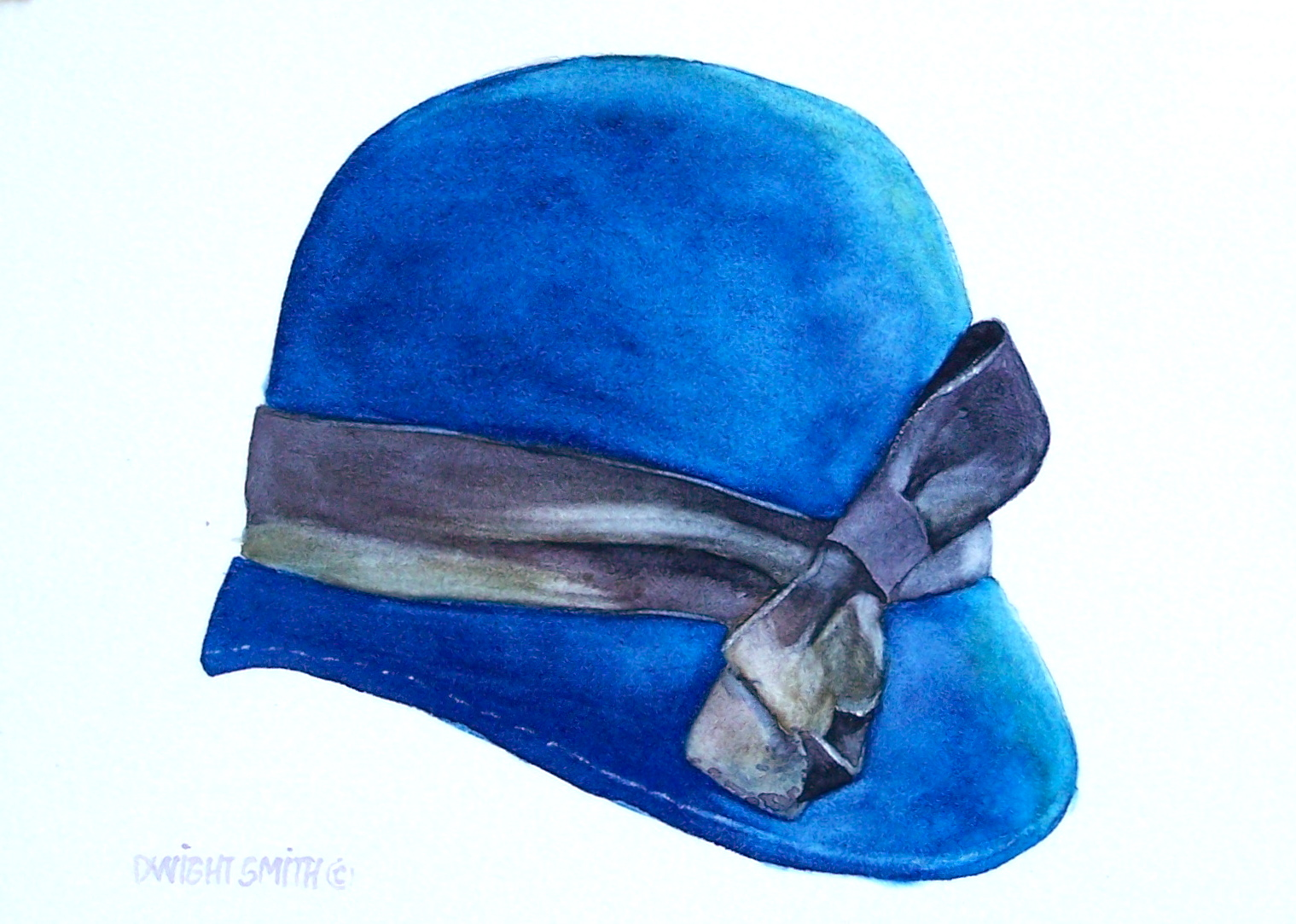 """ HER BLUE HAT """